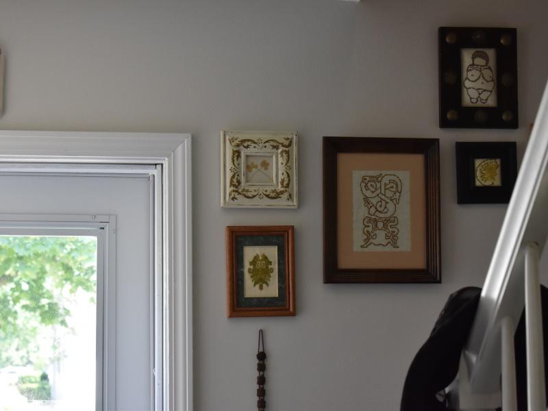 My wall of pagan art